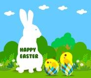 Glückliche Ostern-Grußkarte Lizenzfreies Stockbild
