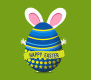 Glückliche Ostern-Grußkarte Lizenzfreie Stockfotos