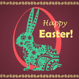 Glückliche Ostern-Grußkarte Stockbild
