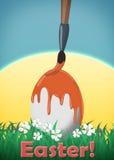 Glückliche Ostern-Grußkarte Lizenzfreie Stockfotografie