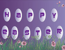 Glückliche Ostern-Hintergrundabbildung Lizenzfreies Stockbild