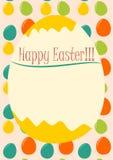 Glückliche Ostern-Karte Lizenzfreies Stockbild
