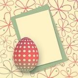 Glückliche Ostern-Karte lizenzfreie abbildung