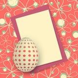 Glückliche Ostern-Karte vektor abbildung