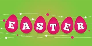 Glückliche Ostern-Karte Lizenzfreies Stockfoto