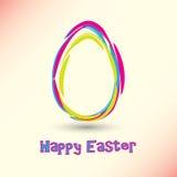 Glückliche Ostern-Karte Stockfoto