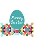 Glückliche Ostern-Karte Stockfotos