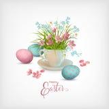 Glückliche Ostern-Karte stock abbildung