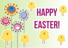 Glückliche Ostern-Karte/Einladung Stockbilder