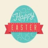 Glückliche Ostern-Karte - Vektor-Illustration Stockfotografie