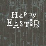Glückliche Ostern-Karten-Schablone. Lizenzfreie Stockfotos