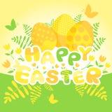Glückliche Ostern-Kartenschablone Lizenzfreies Stockfoto