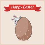 Glückliche Ostern-Kartenschablone Lizenzfreie Stockfotografie