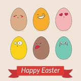 Glückliche Ostern-Kartenschablone Stockfoto