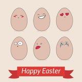Glückliche Ostern-Kartenschablone Lizenzfreie Stockfotos