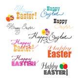 Glückliche Ostern-Kennsatzfamilie Stockfotografie