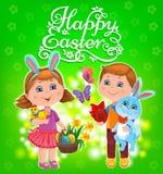 Glückliche Ostern-Kinder Lizenzfreies Stockbild