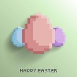 Glückliche Ostern-Pixel-Kunst Lizenzfreie Stockbilder