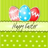 Glückliche Ostern-Postkarte Lizenzfreie Stockfotos