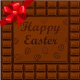 Glückliche Ostern-Schokolade Lizenzfreies Stockbild