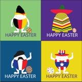 Glückliche Ostern-Vektorillustratorillustration ärgert Konzept Stockfotos