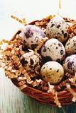 Glückliche Ostern-Weinlese und natürliche Artpostkarte Selektiver Fokus Stockfotos