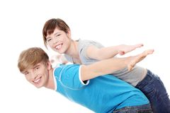 Glückliche Paare. Lizenzfreie Stockfotos