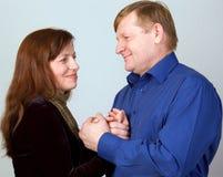 Glückliche Paare. Stockfoto