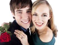 Glückliche Paare auf Valentinstag Stockfotos