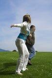 Glückliche Paare im Freien Lizenzfreies Stockfoto