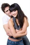 Glückliche Paare (mit Ausschnitts-Pfad) Lizenzfreies Stockbild