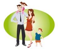 Glückliche Paare mit Kindern Stockfotografie