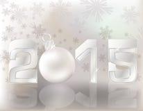 Glückliche Postkarte des neuen Jahres 2015 Stockfotos