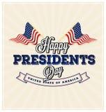 Glückliche Präsidenten Day Background Stockbild