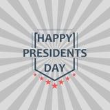 Glückliche Präsidenten Day Vector Illustration Entwerfen Sie für Grußkarte, -plakat und -fahne Lizenzfreies Stockfoto