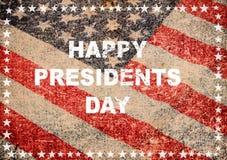 Glückliche Präsidententagesgrußkartenamerikanische flagge Stockfotos