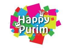 Glückliche Purim-Fahne stock abbildung