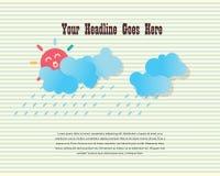 Glückliche regnende Tagesdesignschablone Stockbild