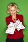 Glückliche reiche Frau stockfotos