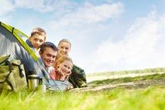 Glückliche Reisende Lizenzfreies Stockfoto