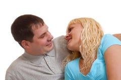 Glückliche reizende Paare Stockbild