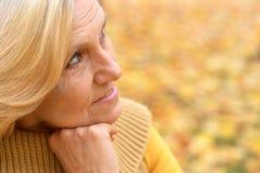 Glückliche schöne alte Frau lizenzfreie stockbilder