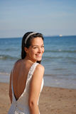 Glückliche schöne Braut Stockfotos