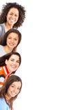 Glückliche schöne Frauen lizenzfreie stockfotografie