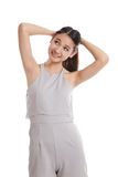 Glückliche schöne junge asiatische Frau lizenzfreie stockfotos