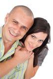 Glückliche schöne Paare Stockfoto