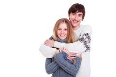 Glückliche schöne Paare Stockbilder