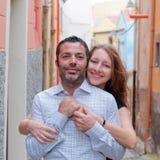 Glückliche schöne Paare Lizenzfreies Stockbild