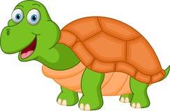 Glückliche Schildkrötenkarikatur Lizenzfreies Stockfoto
