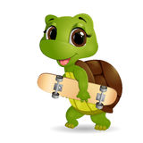 Glückliche Schildkrötenkarikatur Stockbilder